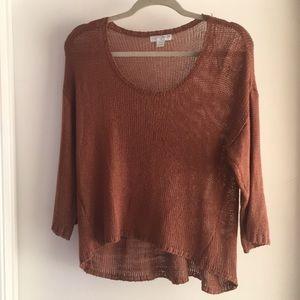 Distressed Rust Sweater